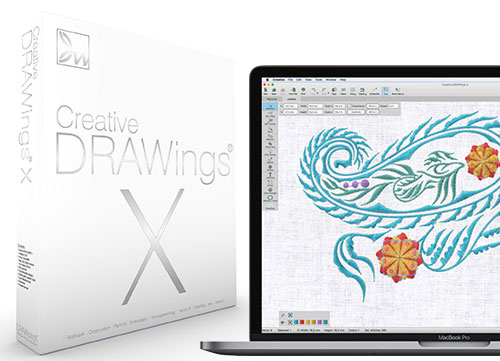Creative DRAWings X Embroidery Software
