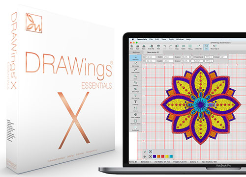 DRAWings Essentials X Embroidery Software