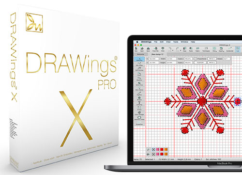 DRAWings PRO X Embroidery Software