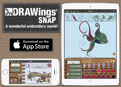 DRAWings Snap - first embroidery app for ios